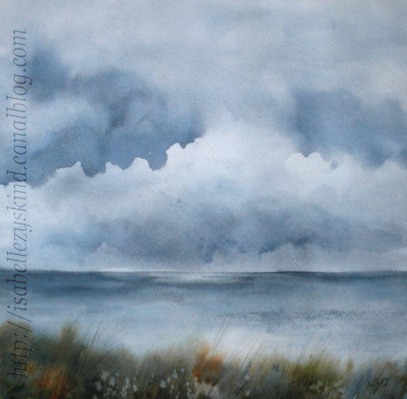 Le Grain By Isabelle Zyskind Aquarelle Peinture Ciel Et Paysage