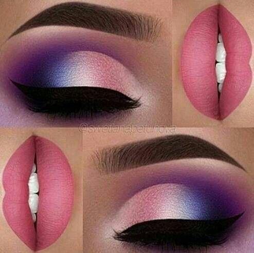 Roze lippen met roze wit en een beetje blauw met het einde van paars alle beschuldigd n … – Neue Deko-Ideen