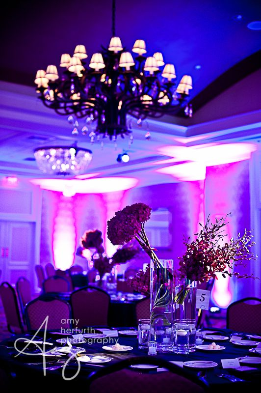 Stonebriar Country Club Purple Pink Wedding Reception