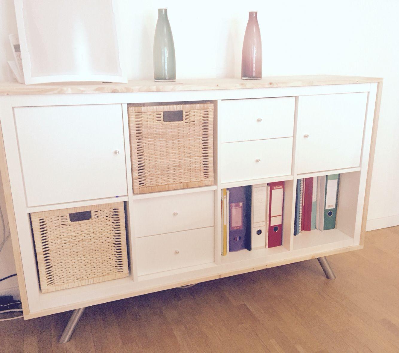 Ikea Hack Kallax Shelf Capita Console Feets Wood Home In