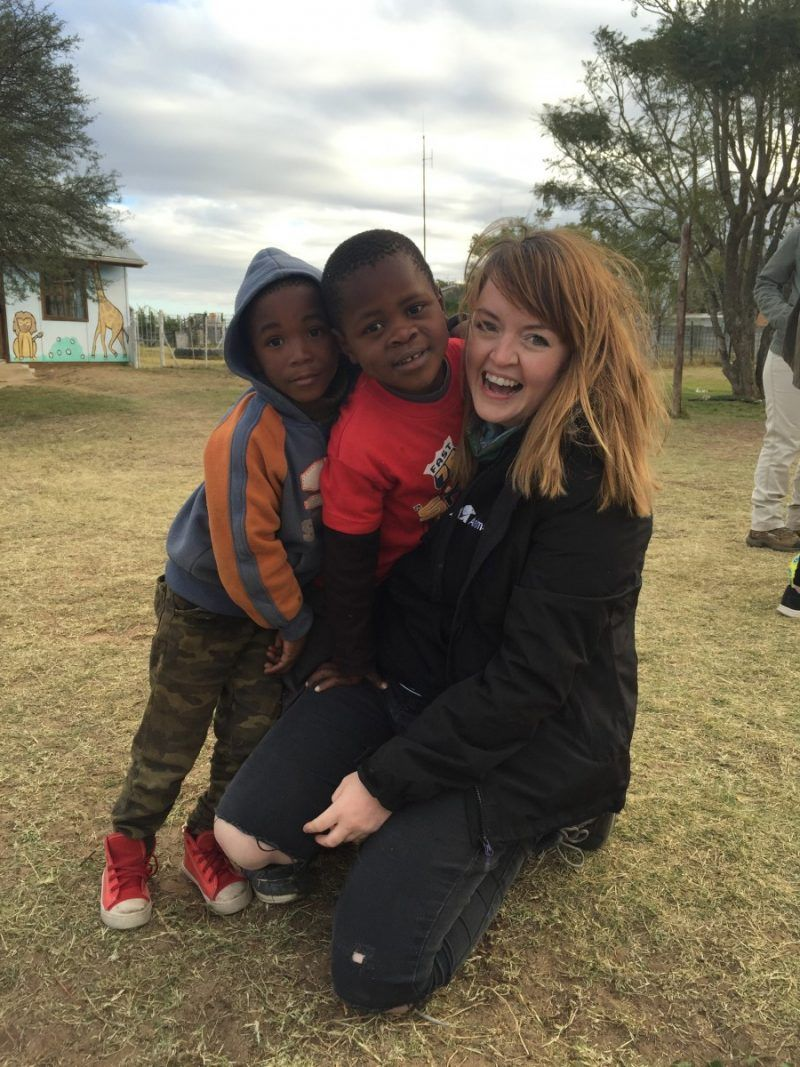 Visiting the Isipho Day Care Centre, South Africa