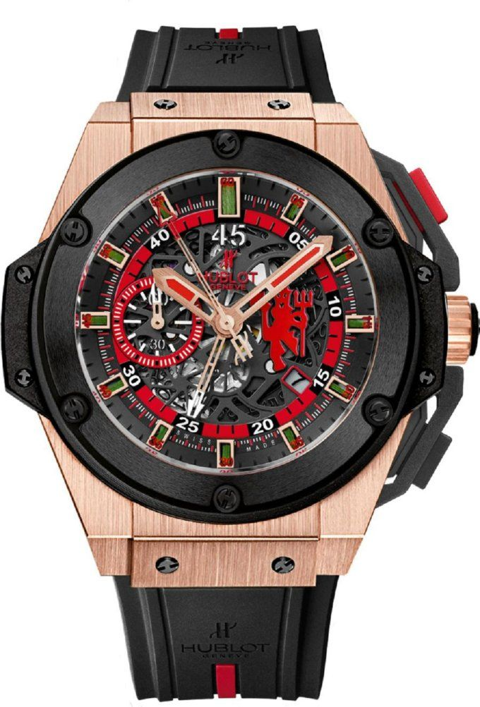 c41b408dc2c Hublot King Power Man Utd Edition - the green dials are encased blades of  grass from