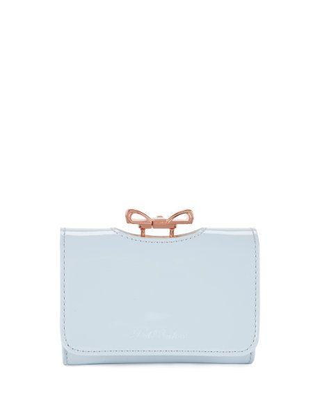 03dfe6ed6 TEMMEY - Crystal bow purse - Powder Blue