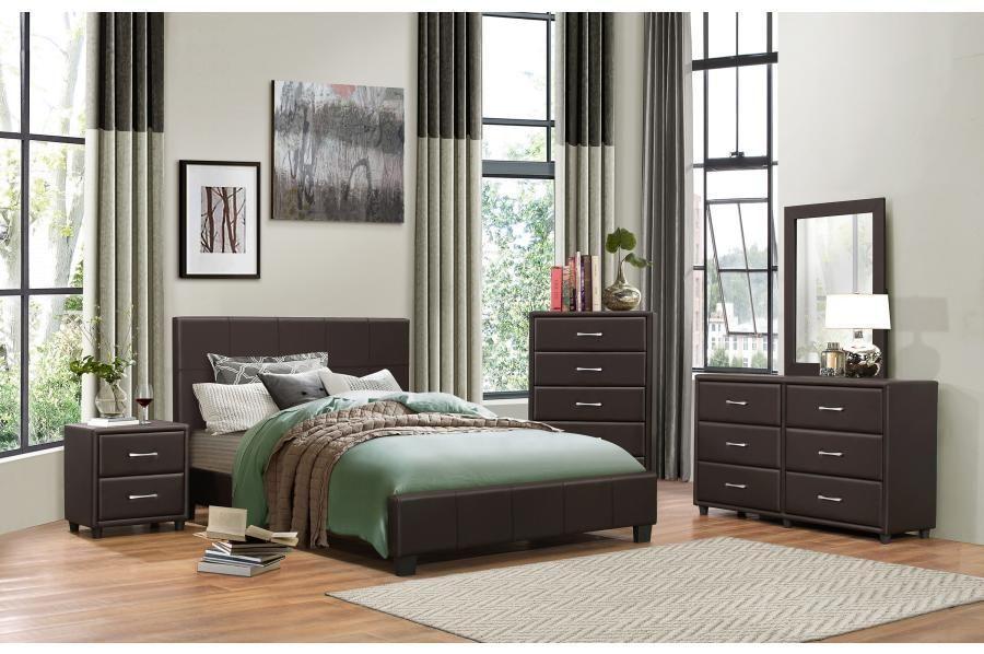 Dark brown vinyl bedroom set room in 2018 Pinterest Bedroom