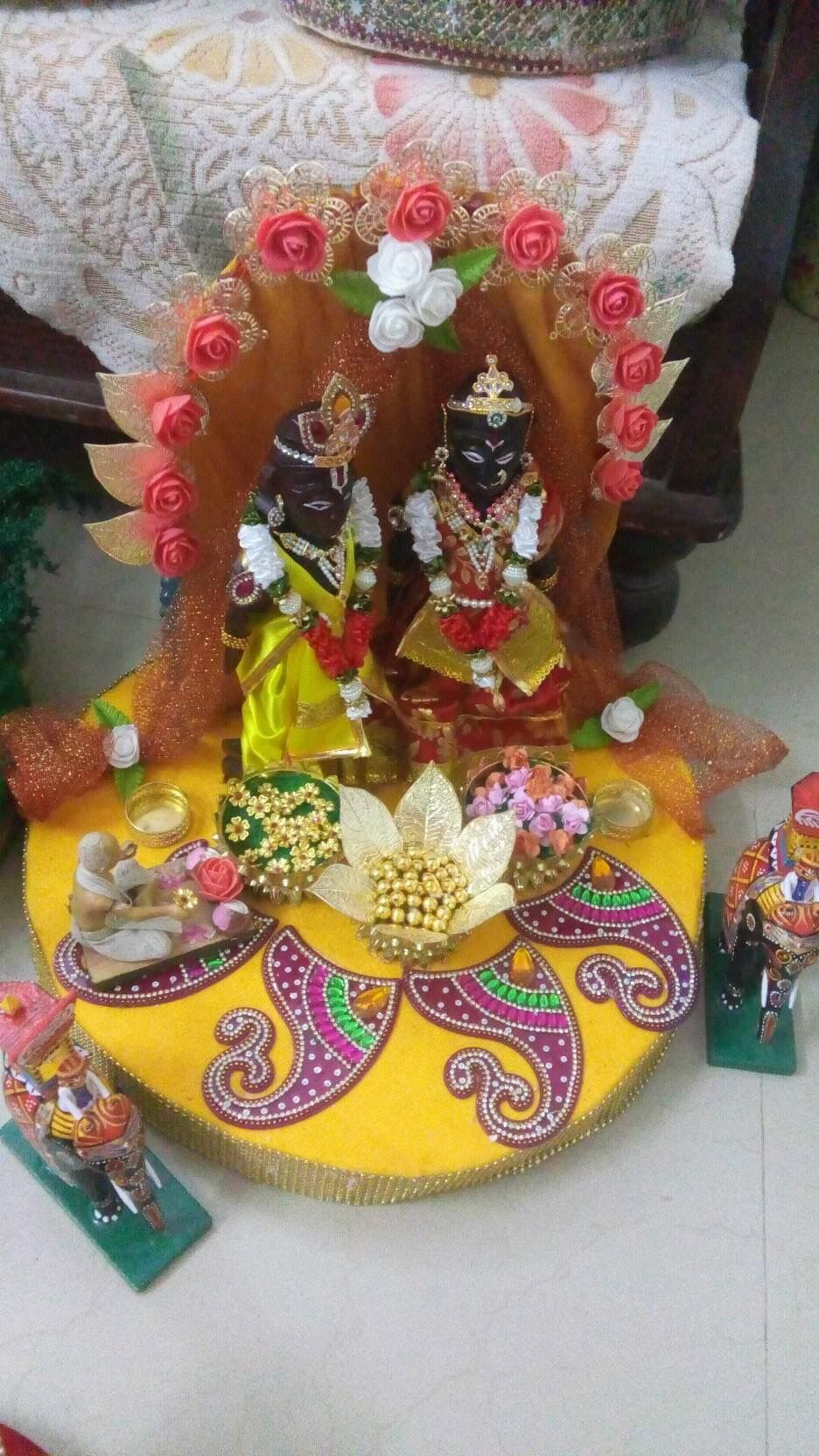 Durga Puja Decorative Items Ganesh Paper Quilling Embellishments Basket Hobbies Marriage Mariage