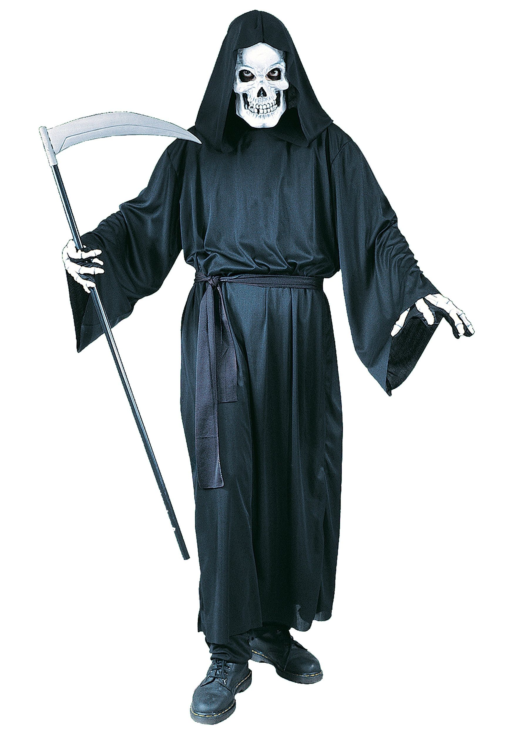 Adult Grim Reaper Costume Mens Scary Halloween Costumes