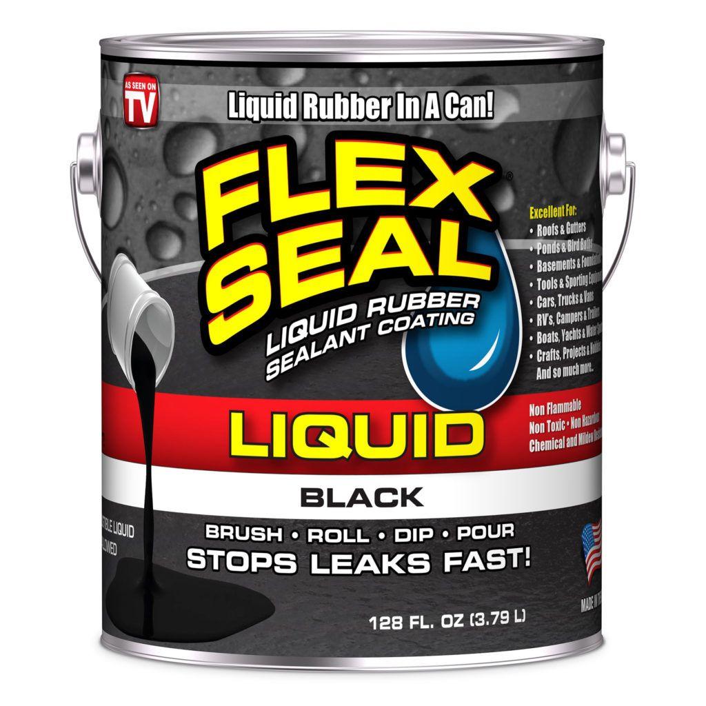 Flex Seal Liquid Rubber Sealant Coating Black Gallon Liquid Rubber Rubber Sealant Concrete Coatings