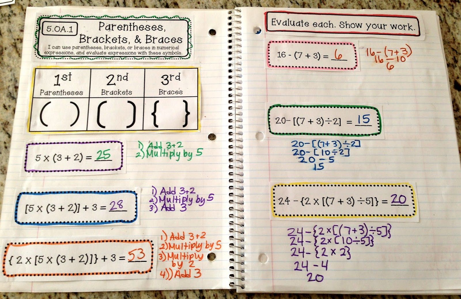 Finally 5th Grade Interactive Math Notebooks