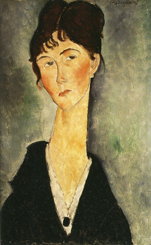 Célèbre Buste de femme avec collier (1918) | Modigliani Amadeo | Pinterest  OB79