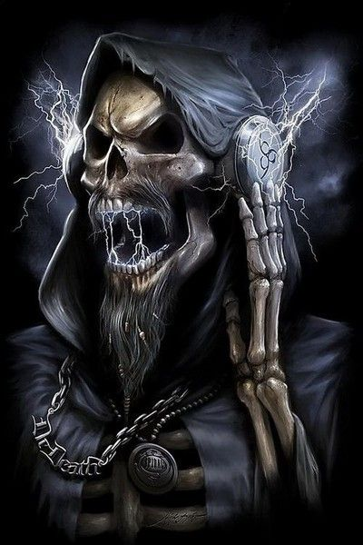 Free Rockn'Roll Skull phone wallpaper by starrr72