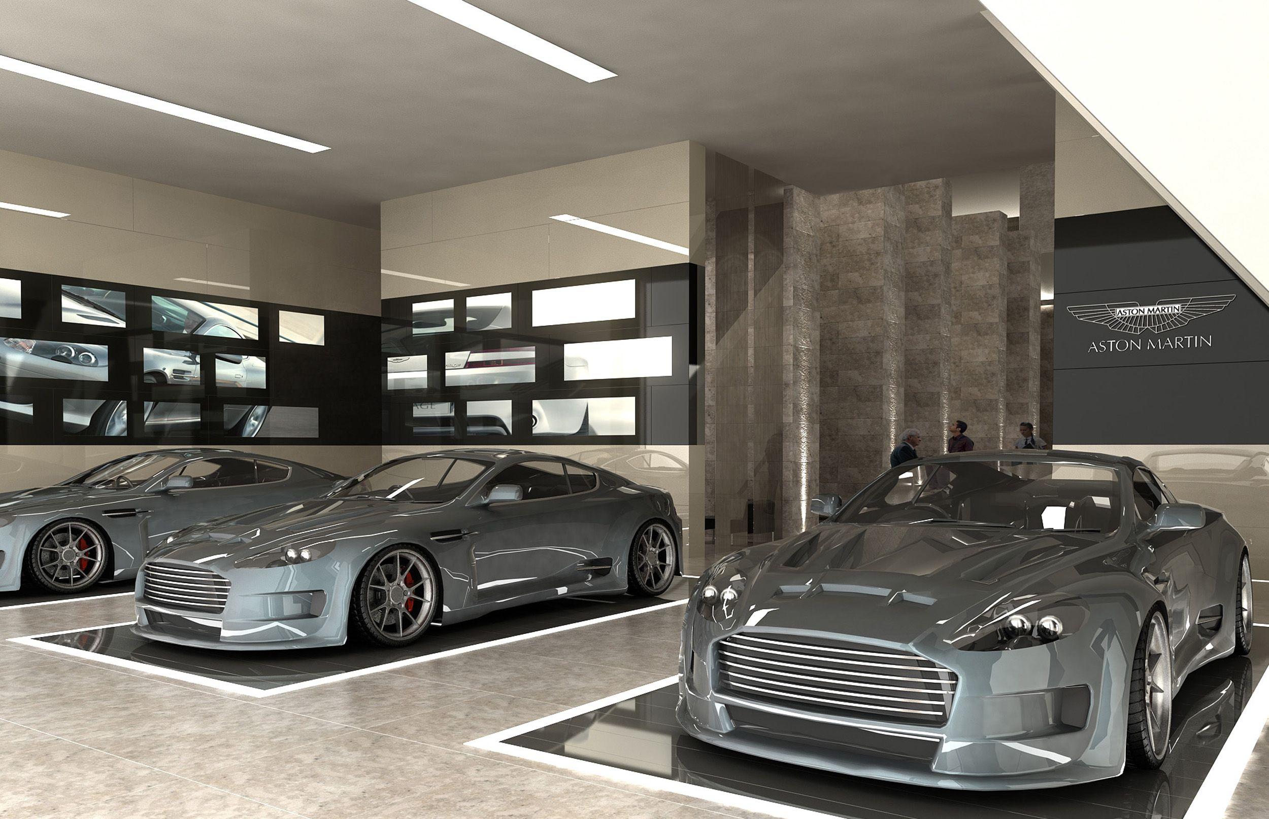 Car Showroom Showroom In 2019 Garage Interior Garage