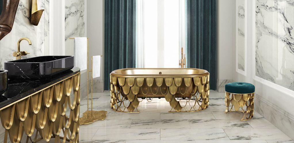 Koi Double Washbasin Contemporary Bathtubs Luxury Bathroom