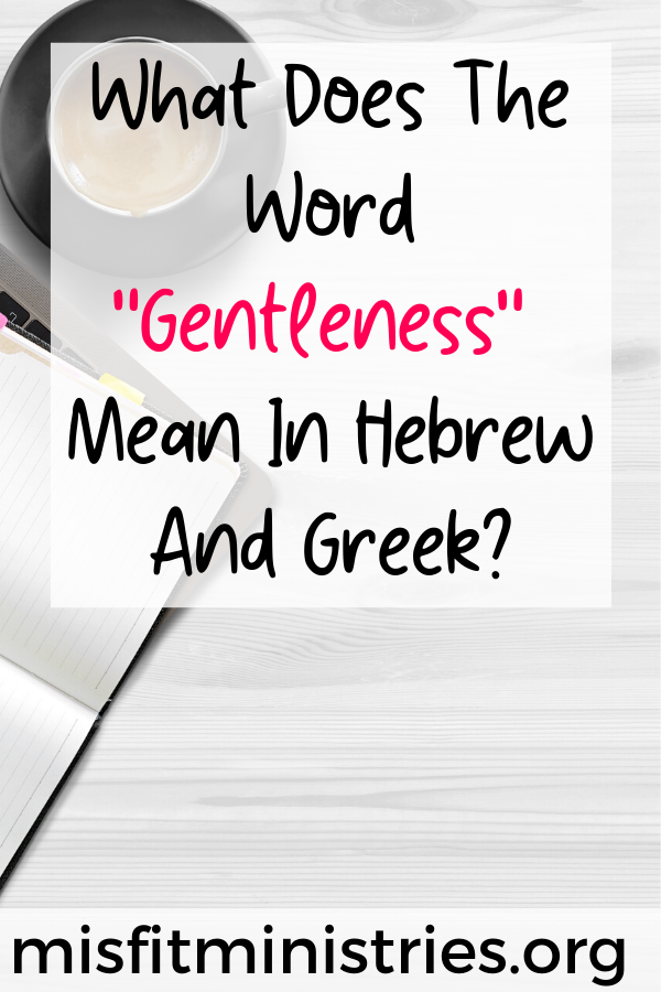 What Does The Word Gentleness Mean In Hebrew And Greek In 2020