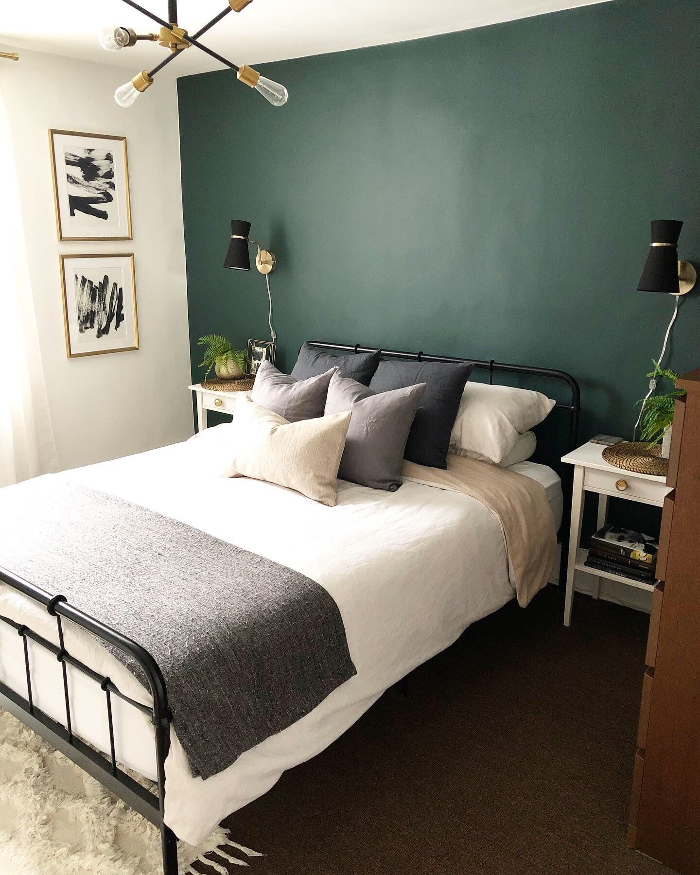 Pin by Lacey Lee on SFA 20 in 2020 Green master bedroom