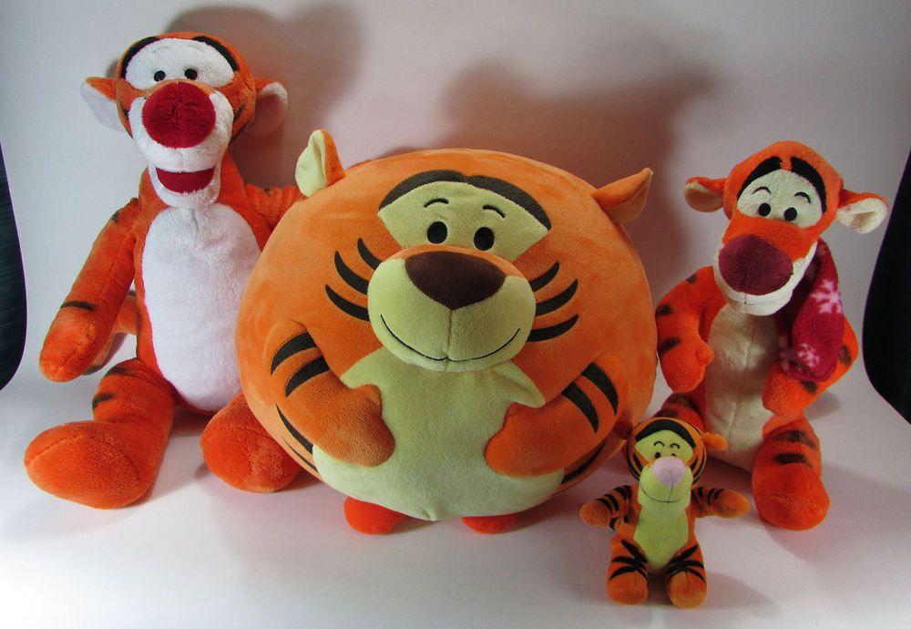 Tigger 4 Plush Lot Stuffed Animal Toys Winnie the Pooh Disney Beanie First  Years  Disney 50dcbb69dc6