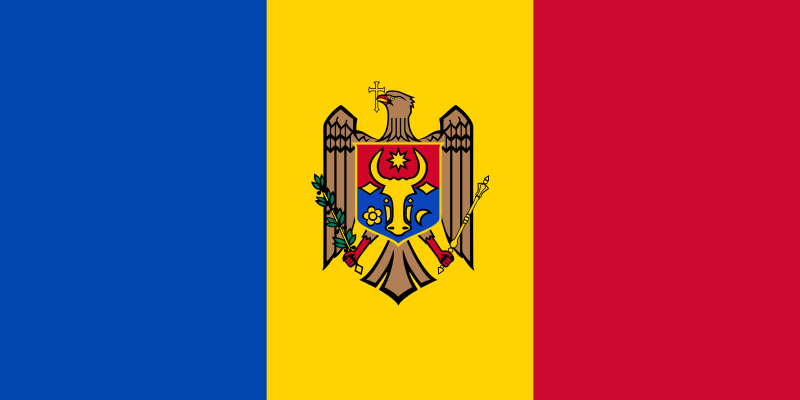 Moldavia Bandera Tricolor Banderas Del Mundo Con Nombres