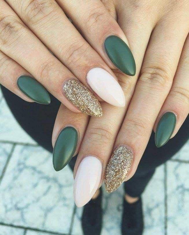 51 Cute Winter Inspired Nail Art Designs To Consider Nail Design Nail Design Green Nails Dark Color Nails Nails