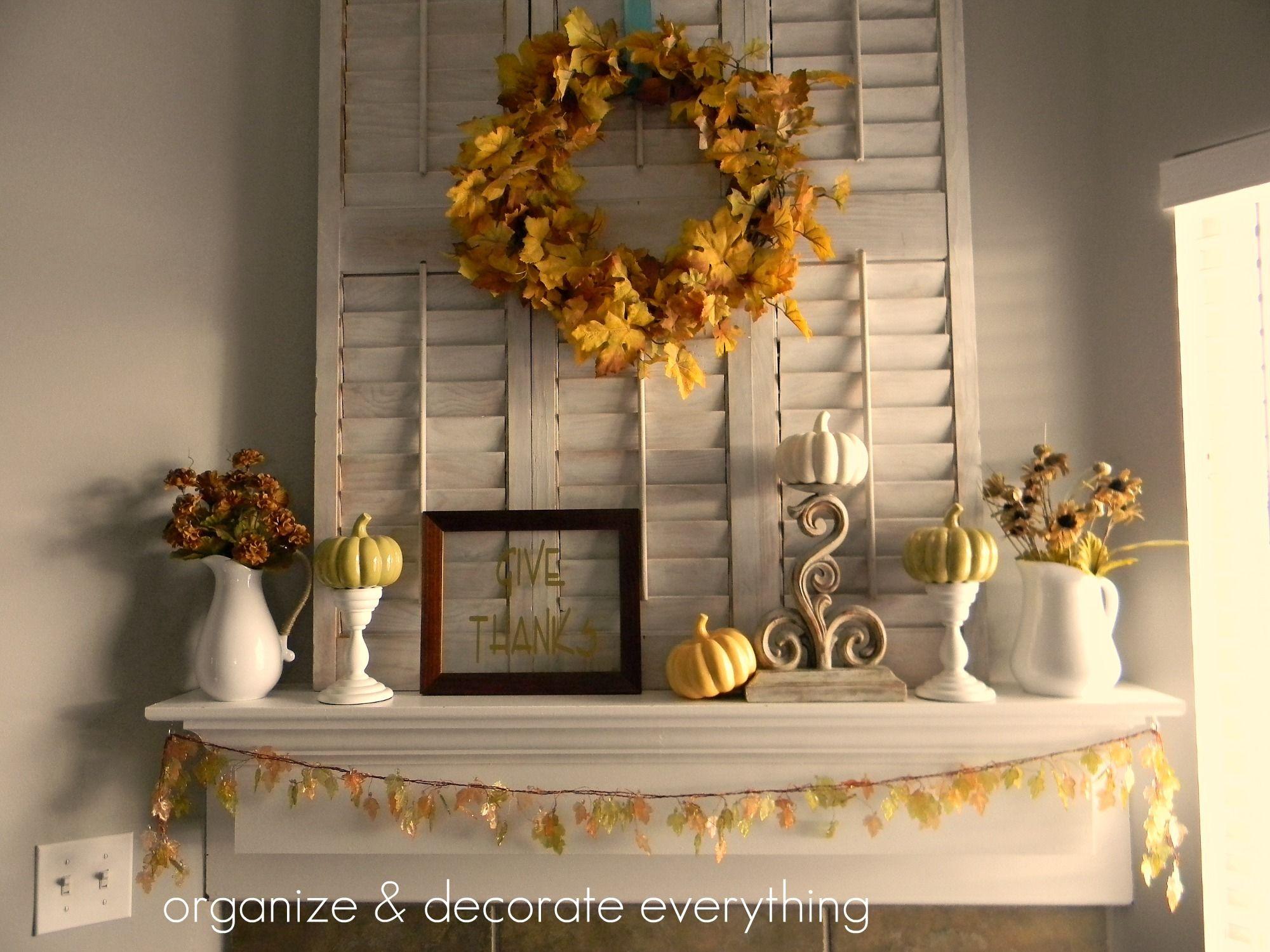 Thanksgiving Mantel Thanksgiving Mantel Decor Mantel