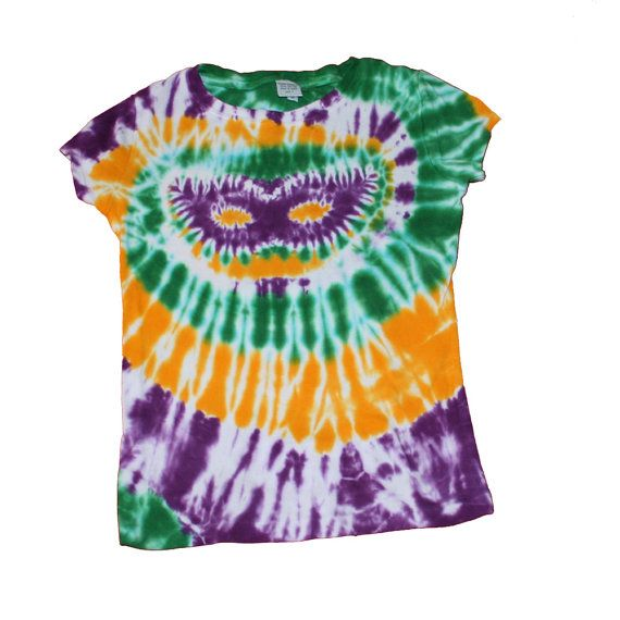 5582a5cb1e85f Mardi Gras Shirts for Women | Tie Dye Shirt with Mardi Gras Colors ...