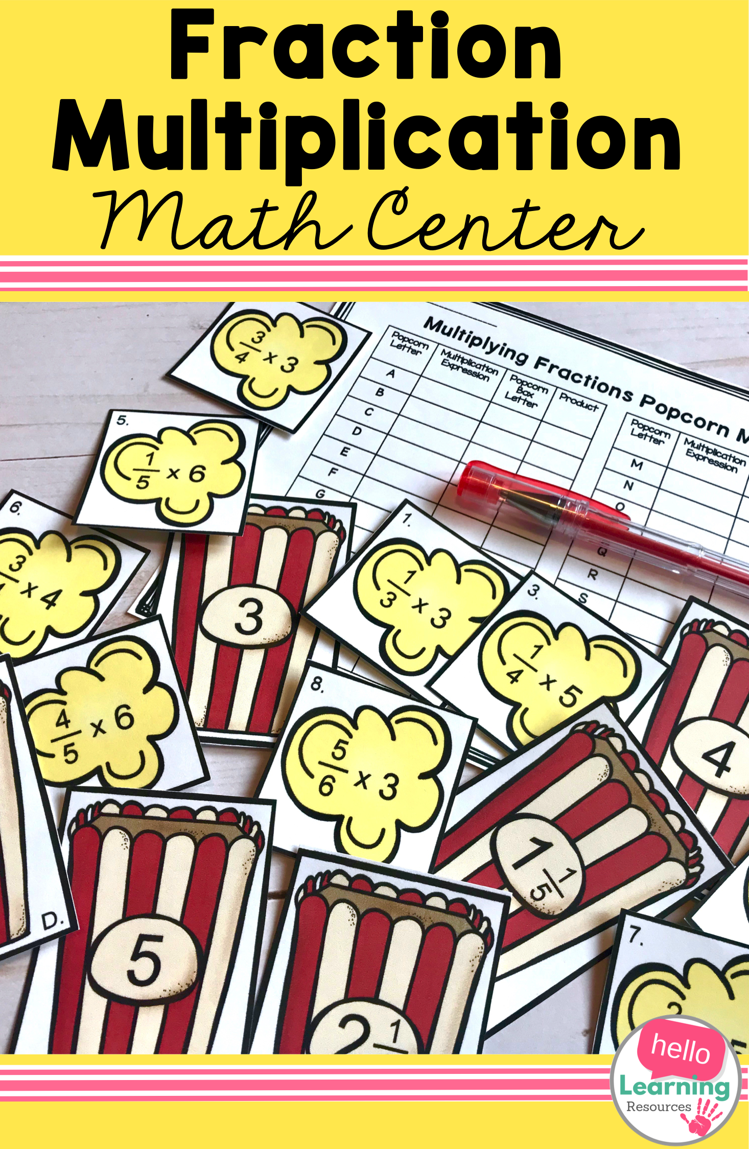 Fraction Multiplication Activity