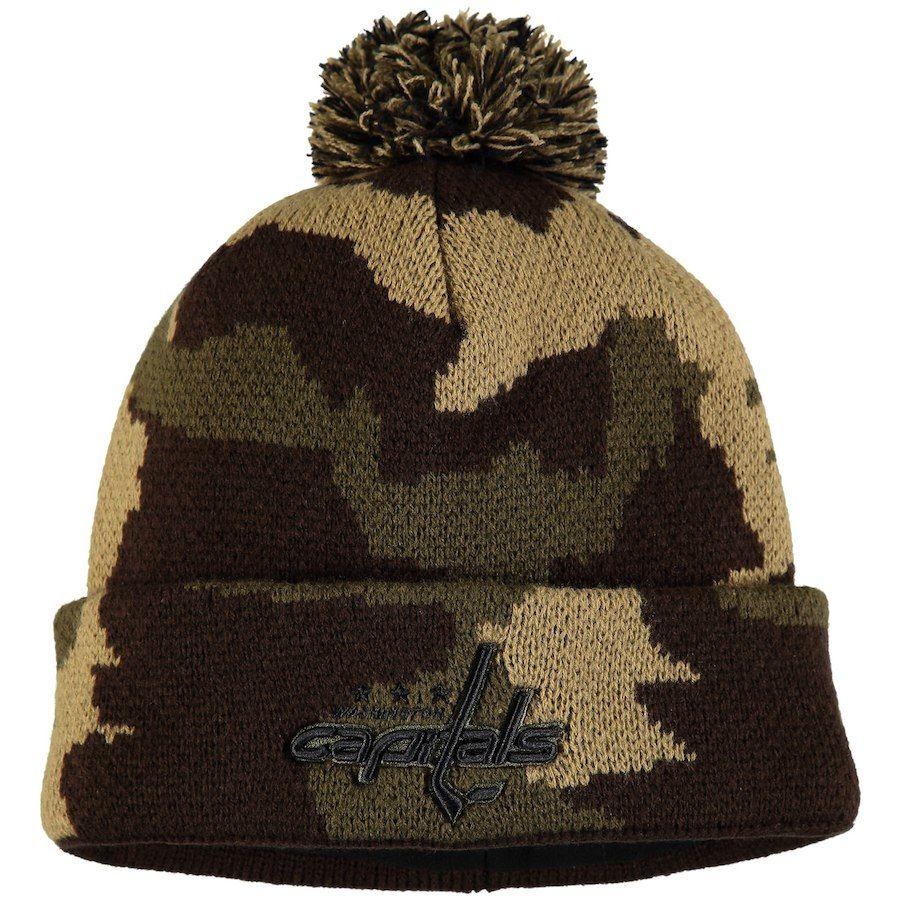 04b59410fe9 Men s Washington Capitals Fanatics Branded Camo Rank Knit Hat