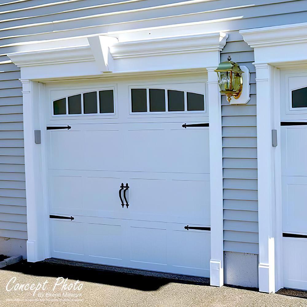 Ekena Millwork 8 In X 2 3 4 In X 96 In Double Raised Panel Pilaster Moulding Pil08x96x02dp In 2020 Carriage Style Garage Doors Garage Exterior Garage Door Design