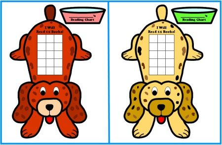 Free Sticker Chart Templates Dog Shaped Reading Sticker Charts - incentive chart template