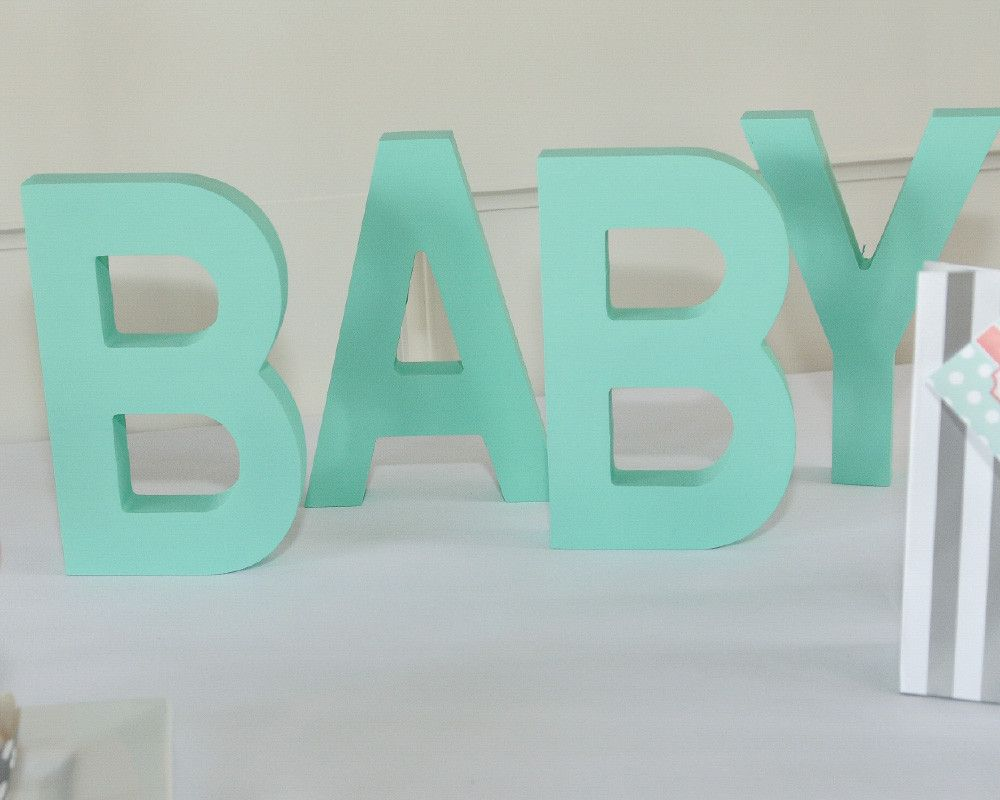 """Wood """"Baby"""" letters 