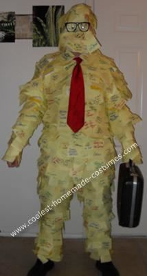 coolest homemade office space post it guy costume guy costumesspace costumesfunny halloween - Best Halloween Costumes For The Office