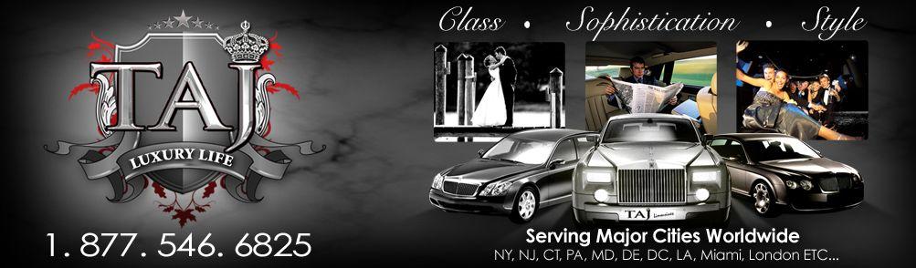 Taj Luxury Life Logo Luxury Car Rental Maybach Casino Trips