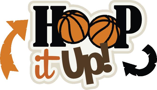 HOOP IT UP TITLE basketball sport scrapbook premade paper piecing by Rhonda
