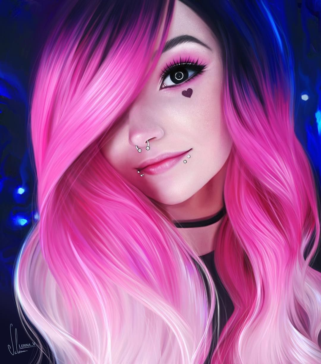 Anime Girl Hairstyles Long: Long Splendid Pink To Blonde Ombre Wavy Synthetic Lace