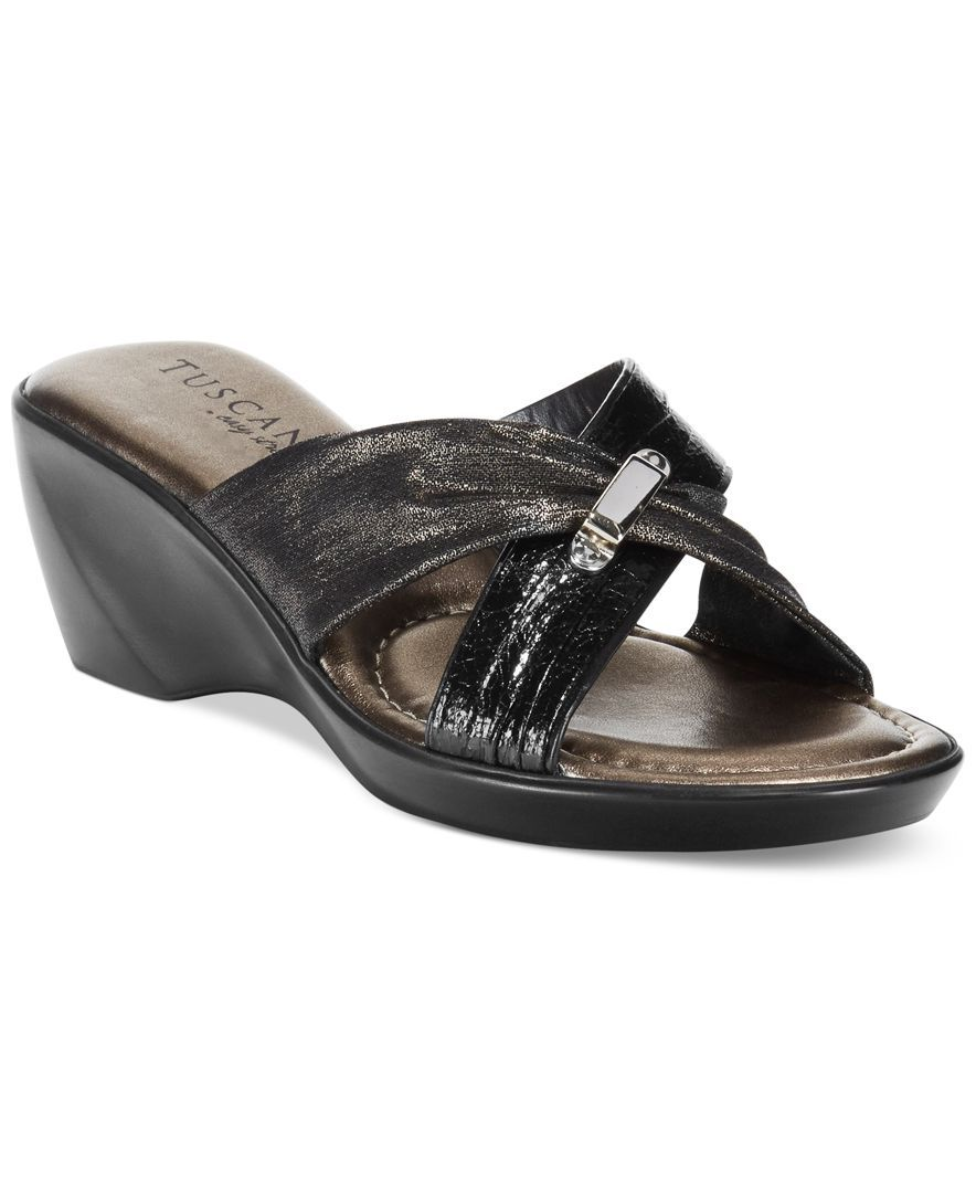 Tuscany by Easy Street Genoa Platform Wedge Sandals