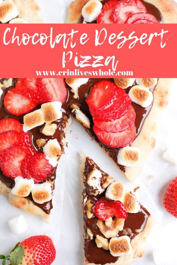Heart Healthy Chocolate Dessert Pizza | Erin Lives Whole ...