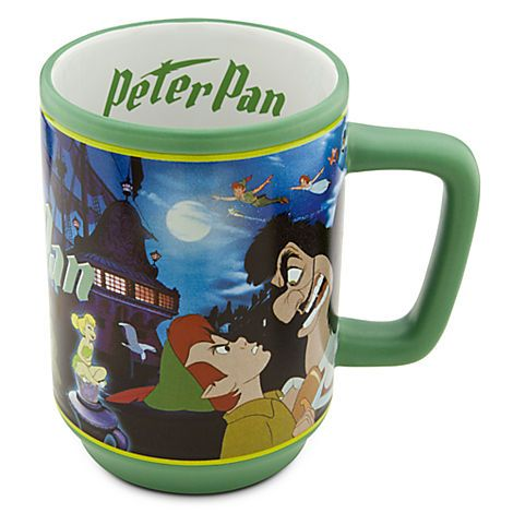 Let Peter Pan and Captain Hook fight it out over your morning coffee! PETER PAN MOVIE MAGIC COFFEE MUG (from Walt Disney's Peter Pan) #disneycups