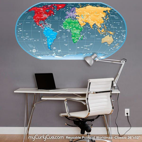 CQ Wall Decals And Decor Wall Decals Wall Stickers Kids - World wall map kids
