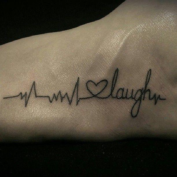 Live Love Laugh Tattoo Www Tattoosbyoc Com Heartbeat Tattoo Tattoos Tattoos For Guys