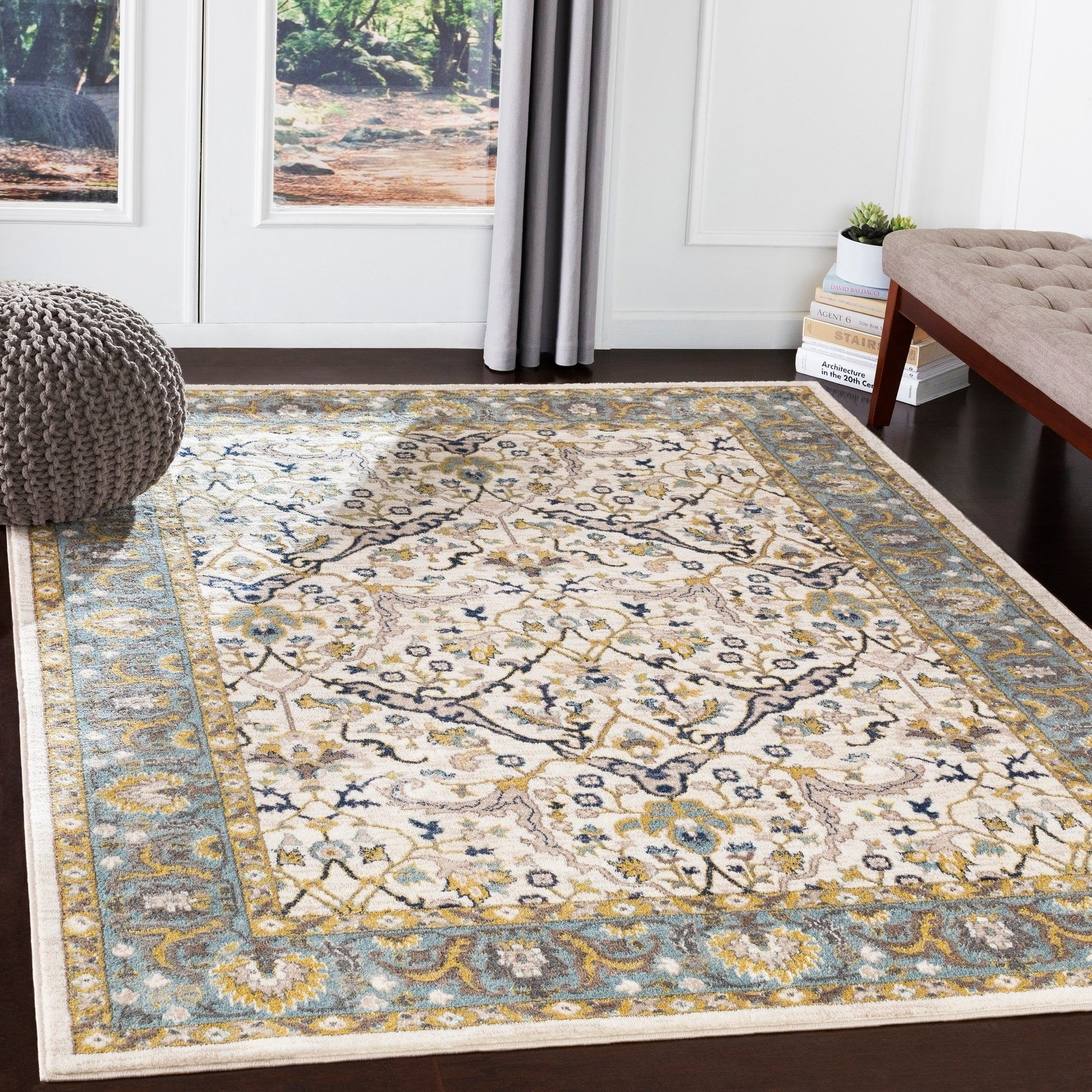 Paxton Sky Blue Traditional Area Rug 7 10 X 10 3 7 10 X 10 3 Sky Area Rugs Beige Area Rugs Blue Area Rugs