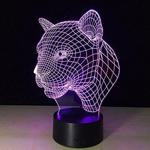 Lotos Abstractives 3d Illusion Optique Robot Mignon Colorful Effet D Eclairage Tactile Commutateur Usb Powered Led Decoration Led Art Led Decoration Lampe Led