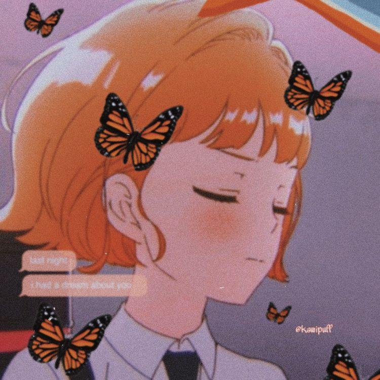 aesthetic animeicon kawaii butterfly Anime butterfly