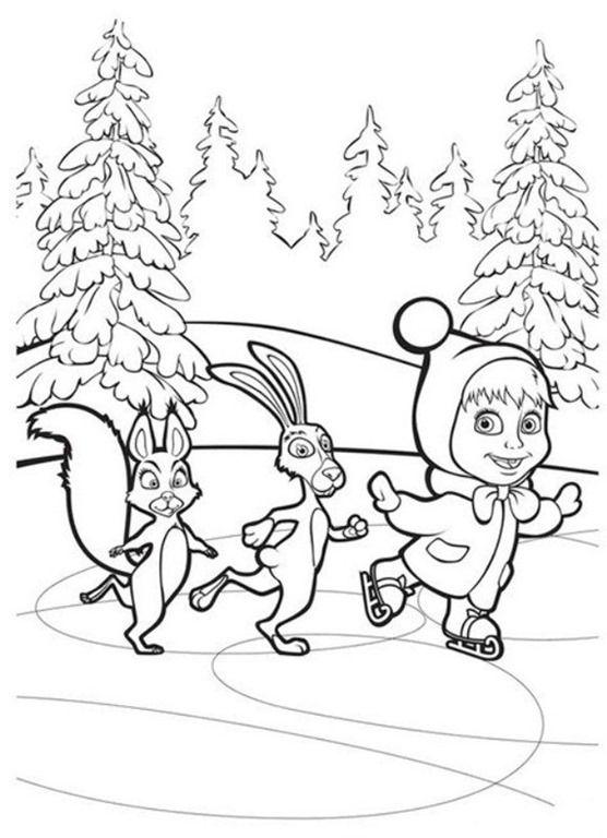 Masha E Urso Bear Boomerang Desenhos Imprimir Colorir Pintar 10 Masha E O Urso Marsha E O Urso Decoracao Masha E Urso