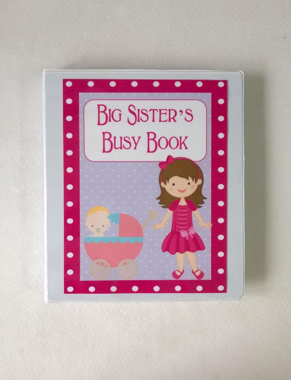 Big sister busy book quiet book dry erase velcro