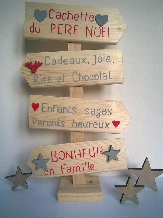 décoration de Noël panneaux fléchés à poser #marchédenoel