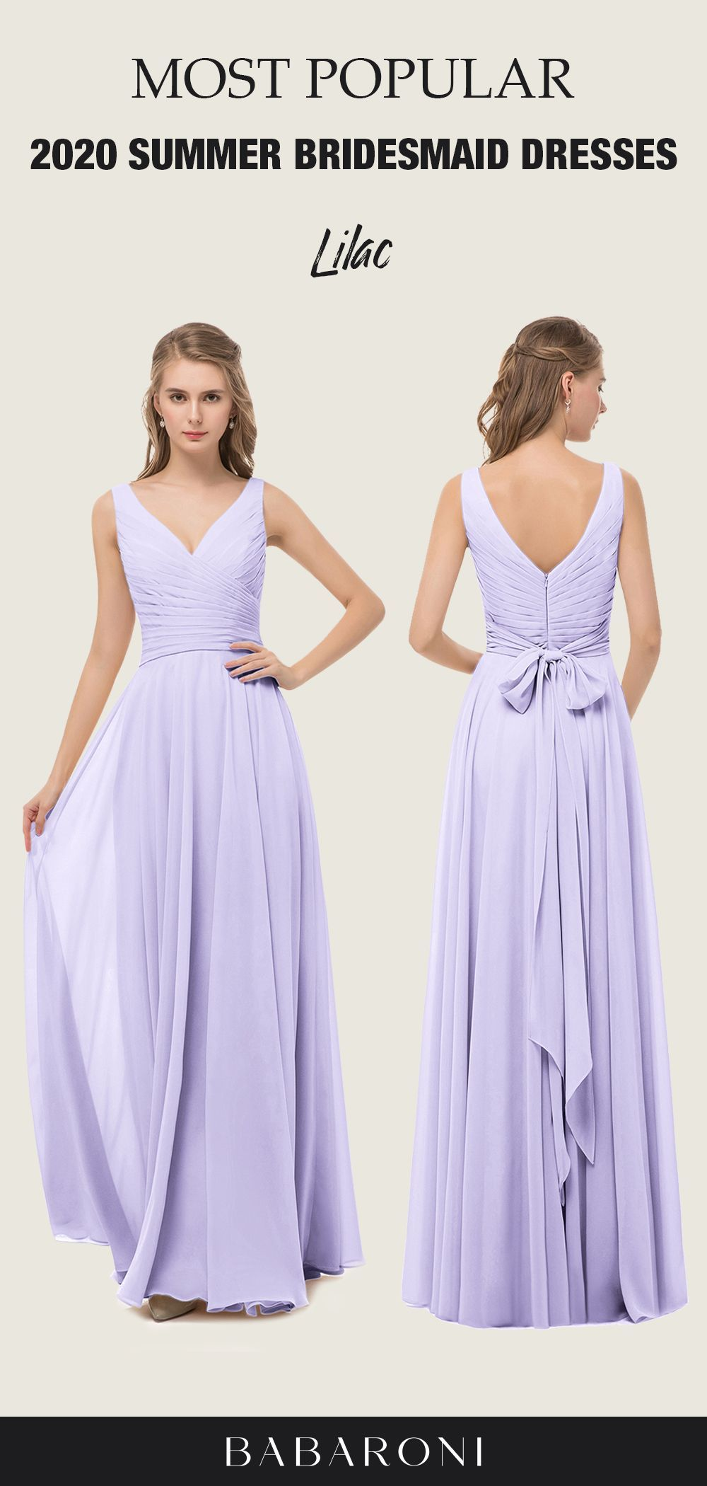 SKU: Cassiopeia Color: Lilac Price: $99.00 Size: All Sizes Available  Cassiopeia's modern crisscross, pleated front bodice combined with its chic illusion v-neckline make the bridesmaids look sexy,but the bowknot on the back makes the dress look more elegant.  #babaroni #bigsale #christmas #christmassale #christmasdeals #wedding #wedding #weddings #weddings  #weddingdress #weddingdresses #bridalgown #bridesmaid  #bridesmaiddress #bridesmaidgown #Romantic Lilac Color Classic V