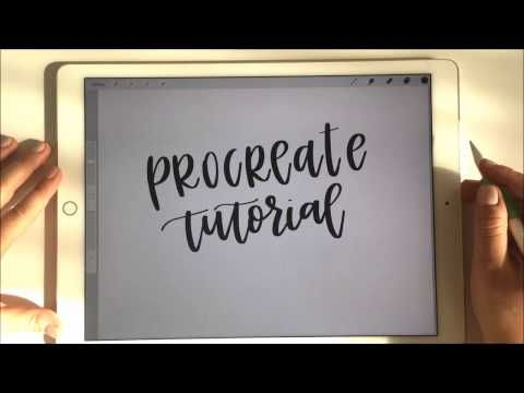 Procreate Tutorial With Apple Pencil Amp Ipad Pro For Handlettering Pt 1 Basic Intro And Ov Lettering Tutorial Procreate Ipad Tutorials Apple Pencil Ipad