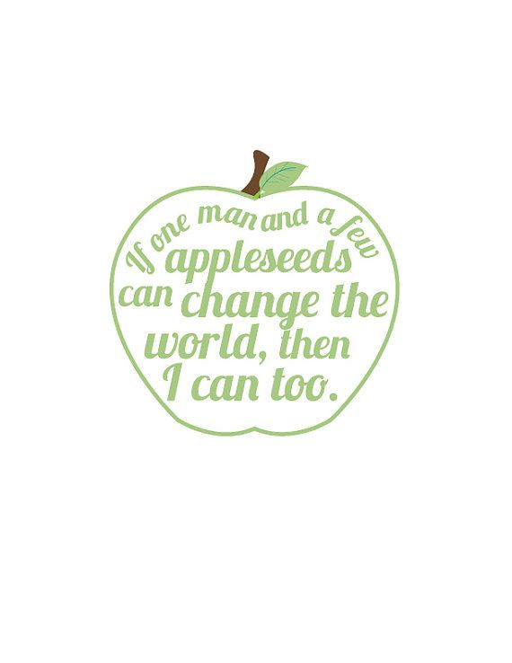 johnny appleseed quote artgreep apple fun art by