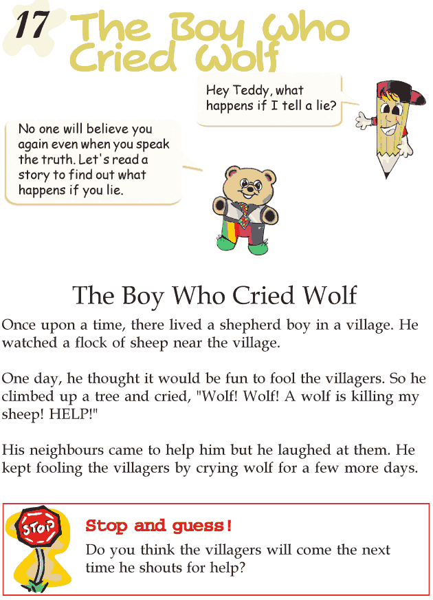 Grade 2 Reading Lesson 17 Fables And Folktales The Boy Who Cried Wolf