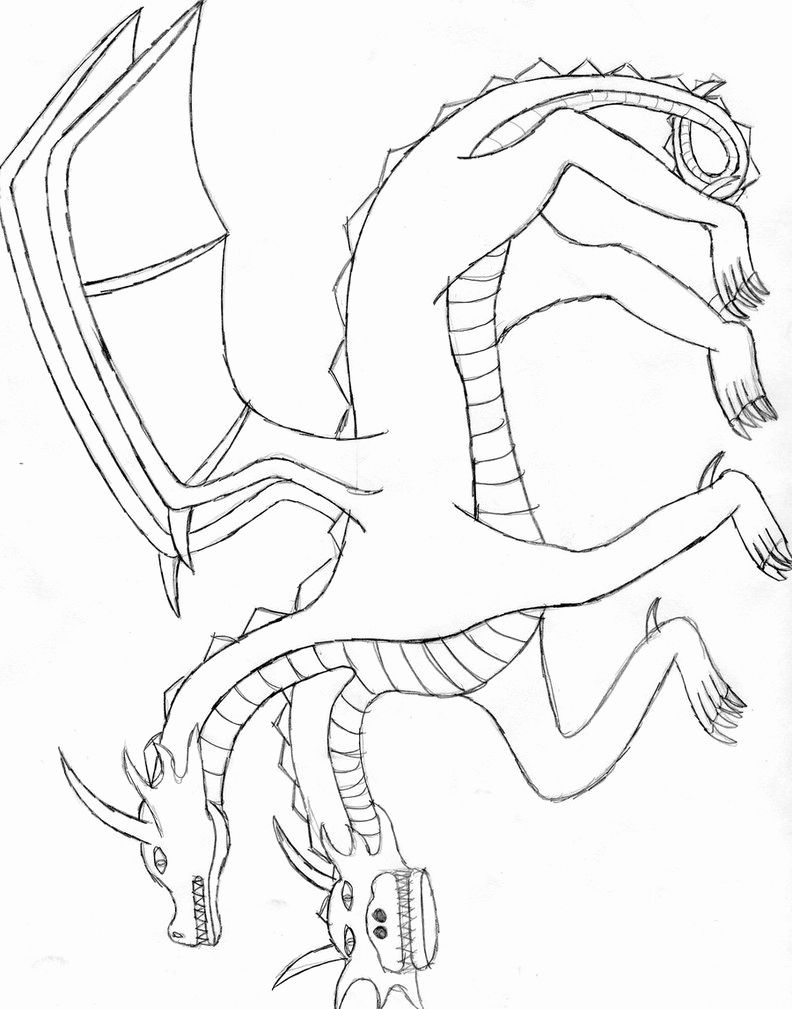 Coloring Pages For Kids Two Headed Dragon Dragon Coloring Page Dinosaur Coloring Pages Coloring Pages For Kids