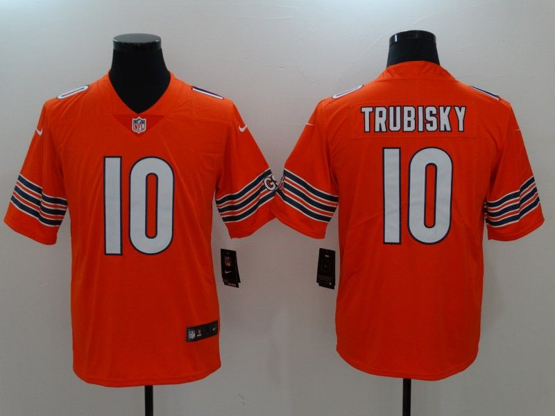 Men Chicago Bears 10 Trubisky Orange Nike Vapor Untouchable Limited NFL  Jerseys 09b988d48