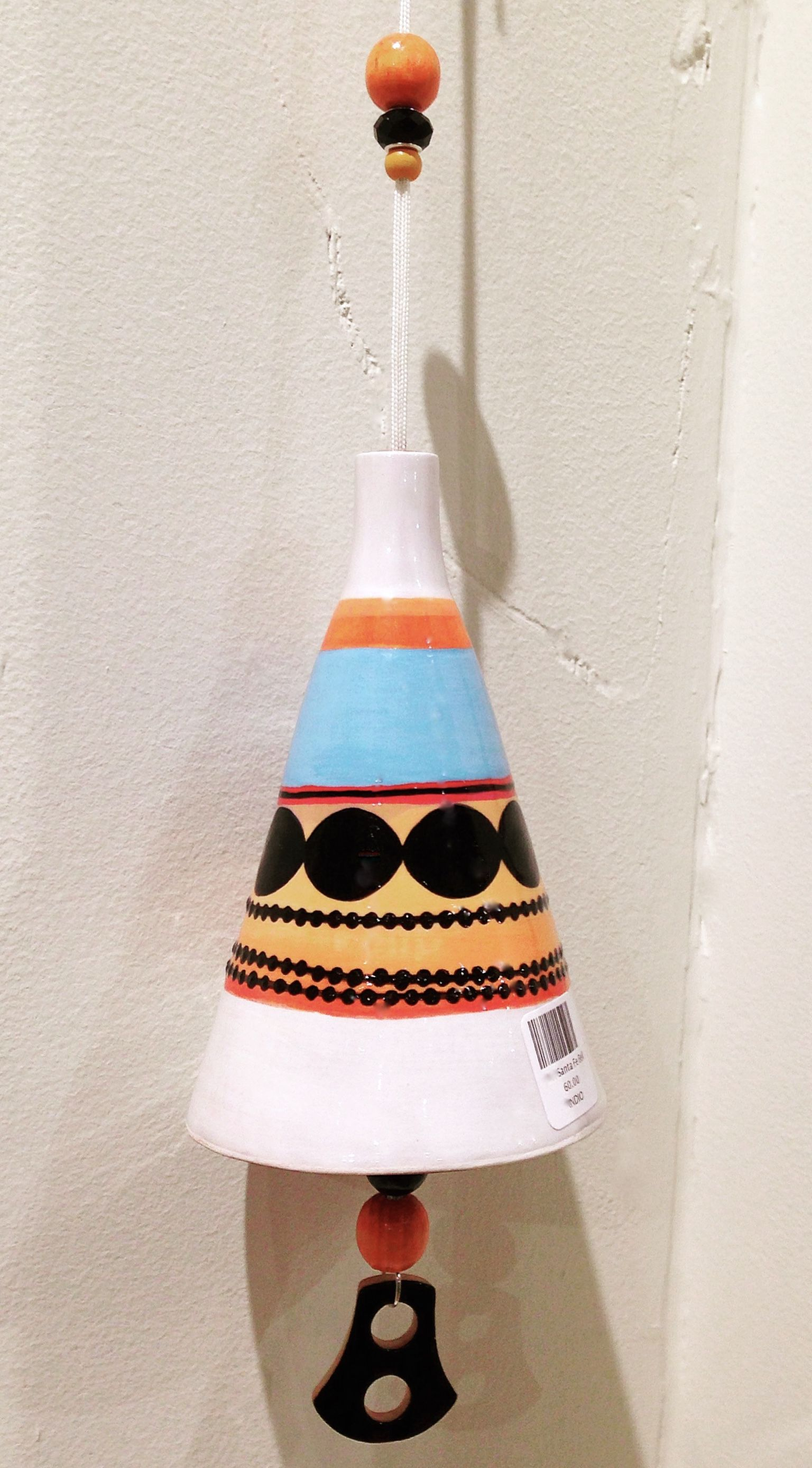 Santa Fe bell. Handmade ceramic bell or wind chime | SEA CLOUD ...